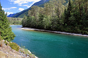 North Cascades Metal Prints - Colorful Skagit River Metal Print by Pierre Leclerc