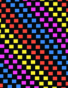 Futurist Prints - Colorful Squares Print by Louisa Knight