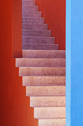 Architectural Detail Framed Prints - Colorful Stairwell Framed Print by Jeremy Woodhouse