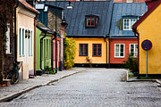 Lund Framed Prints - Colorful Street Framed Print by © Rutger Blom
