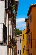 Bong Metal Prints - Colorful Street In Granada Spain Metal Print by Marc Garrido