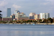 Tampa Skyline Prints - Colorful Tampa Skyline Print by Carol Groenen