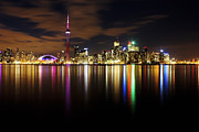 Long Exposure Metal Prints - Colorful Toronto Metal Print by Matt  Trimble