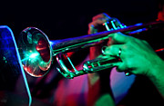 Live Music Photos - Colorful Trumpet by The  Vault