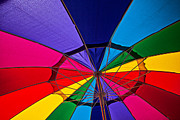 Rainbow Metal Prints - Colorful umbrella Metal Print by Garry Gay