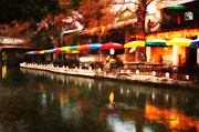 San Antonio River Walk Framed Prints - Colorful Umbrellas Framed Print by Iris Greenwell