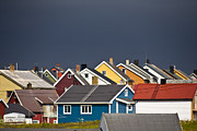 Norwegian Fishing Village Prints - Colorful Vardoe Print by Heiko Koehrer-Wagner