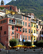 Genoa Posters - Colorful Vernazza Poster by Carla Parris