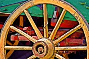 Wagon Wheels Photos - Colorful Wagon Wheel- Fine Art by KayeCee Spain