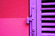 Hinge Posters - Colorful Wall And Wood Shutter In Monaco Poster by Alexandre Fundone