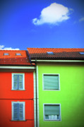 Colorful Walls And A Cloud Print by Silvia Ganora