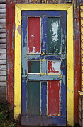 Abandoned Buildings Framed Prints - Colorful Wooden Door Framed Print by Will & Deni McIntyre