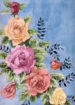 Floral Watercolor Painting Originals - Colorfull Roses by Alban Dizdari