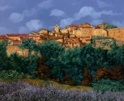 Colors Painting Framed Prints - colori di Provenza Framed Print by Guido Borelli