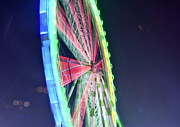 Ferris Wheel Night Photography Framed Prints - Coloring Framed Print by Photo Nadieshda