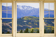 Autumn Photographs Framed Prints - Colororful Rocky Mountain Autumn Picture Window View Framed Print by James Bo Insogna
