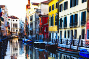 Croce Prints - Colors and  Reflections in Venice Print by George Oze