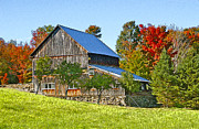 Farm Buildings Prints - Colors In Vermont Print by James Steele