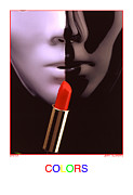 Stylized Photography Posters - Colors- Lipstick Poster by Jerry Taliaferro