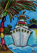 Caribbean Art Posters - Colors of Cruising Poster by Patti Schermerhorn