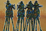 Texas Paintings - Colors Of Four by Lance Headlee