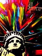 Liberty Painting Prints - Colors of Liberty Print by Jeff Hunter