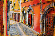 Arches Pastels Posters - Colors Of Lyon 4 Poster by EMONA Art