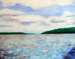 Mississippi River Painting Originals - Colors Of The Mississippi by Troy Thomas