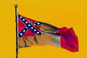 Confederate Flag Digital Art Prints - Colors of the New South Print by David Lee Thompson