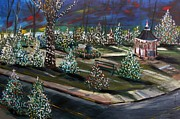 Xmas Painting Originals - Colors of the Night by John  Williams