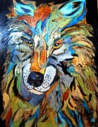 Wolf Pyrography - Colors of the Wolf by Mike Holder