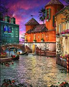 Architecture Mixed Media Prints - Colors of Venice Print by Joel Payne