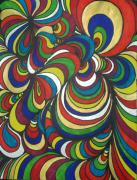 Vibrant Colors Drawings Prints - Colorway 2 Print by Ramneek Narang