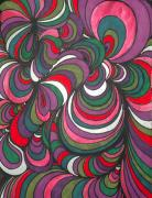 Vibrant Colors Drawings Prints - Colorway 5 Print by Ramneek Narang