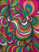 Vibrant Colors Drawings Prints - Colorway1 Print by Ramneek Narang