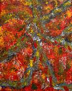Abstracts Painting Originals - Colorwheel by Leslie Revels Andrews