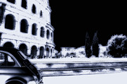 Fiat 500 Framed Prints - Colosseo Framed Print by Dante Pantoni
