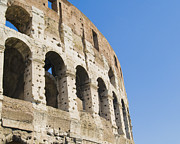 Ancient Cities Framed Prints - Colosseum Detail Framed Print by John Harper
