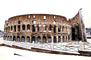 Snowstorm Photos - Colosseum by Fabrizio Troiani