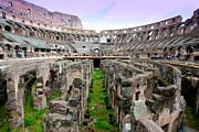 Old Ruin Metal Prints - Colosseum Metal Print by Luiz Felipe Castro