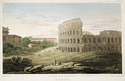 Roman Archaeology Prints - Colosseum: Rome, 1821 Print by Granger
