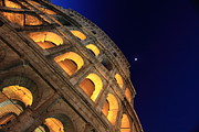 Night Photographs Posters - Colosseum Poster by Rome
