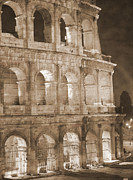 Old Ruins Framed Prints - Colosseum Framed Print by Stefano Senise