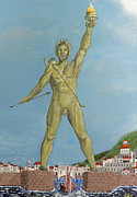 Acrylic On Canvas - Colossus of Rhodes by Eric Kempson