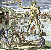 Rhodes Greece Framed Prints - Colossus Of Rhodes Statue Framed Print by Sheila Terry