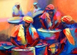 Trinidad Paintings - Colour Pan by Cynthia McLean