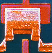 Integrated Prints - Coloured Sem Of A Single-electron Transistor Print by Volker Steger