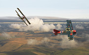 Classic Aircraft Prints - Colourful Encounter Print by Pat Speirs