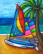Caribbean Paintings - Colourful Hobby by Lisa  Lorenz
