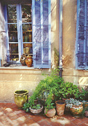 Saint Tropez Prints - Colours of Provence - Terracotta Pots Print by John James